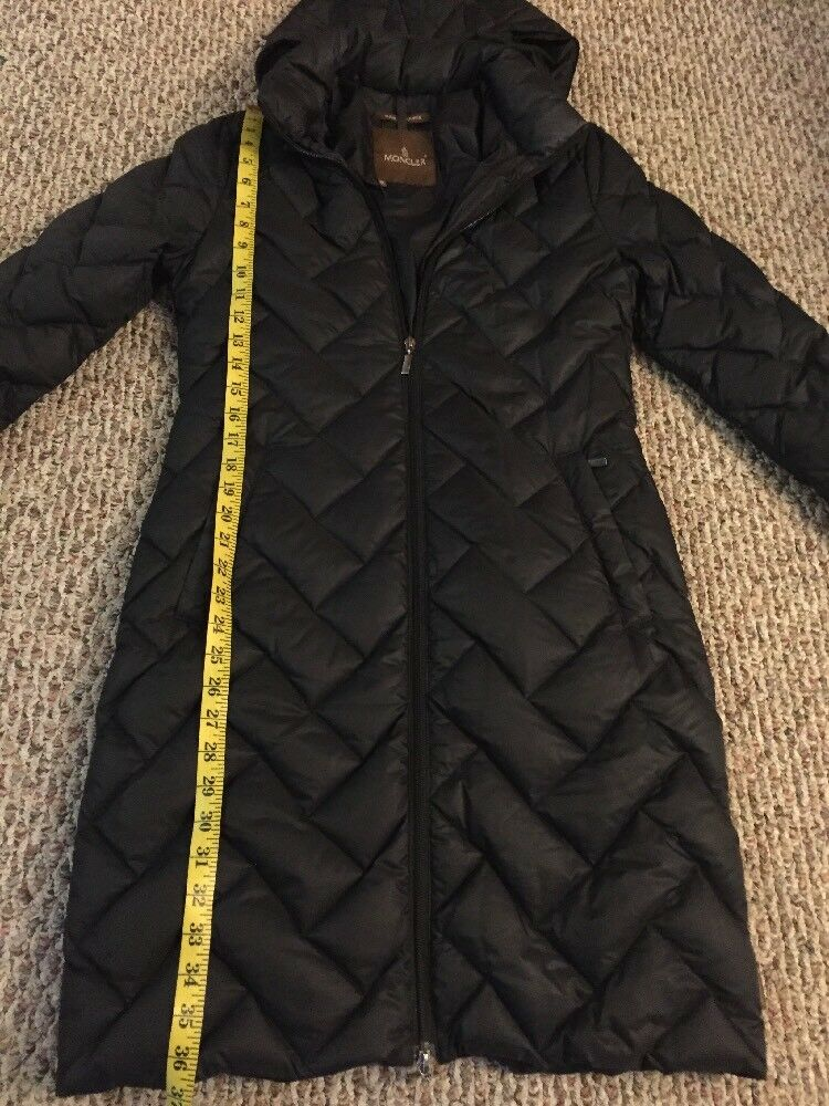 100% Authentic Moncler Duvet Down Coat Winter Long Hoodie Hoodie Hoodie Coat Size  0 0672b3