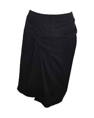 ** Alexander Wang ** Black Skirt ** Usa 6 / Uk 10 ** Ruched Detail ** Designer *
