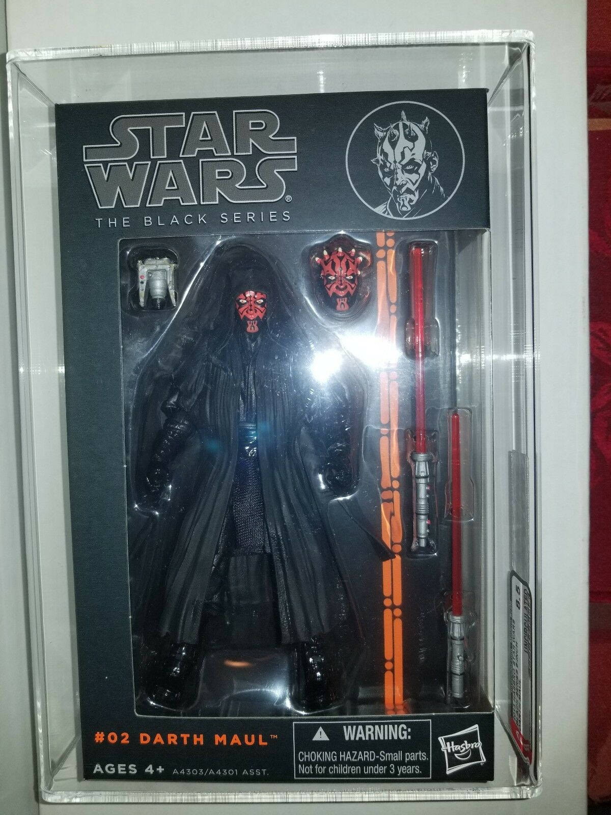Star Wars negro Series Darth Maul 2013 AFA 8.5 Uncirculated