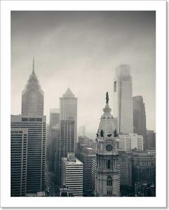 Image Is Loading Philadelphia City Rooftop Art Print Home Decor Wall