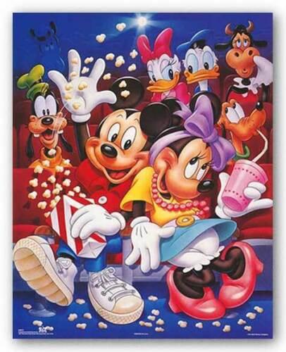 At The Movies Walt Disney DISNEY ART PRINT Mickey and Friends