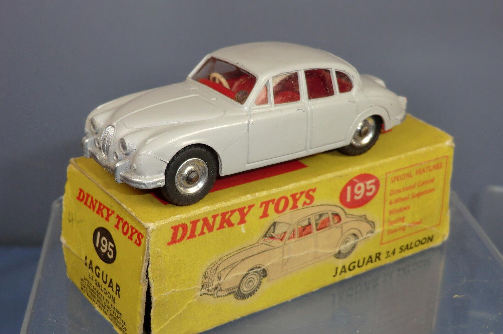 DINKY TOYS TOYS TOYS MODEL No.195 JAGUAR 3.4 Mk. II Saloon VN En parfait état, dans sa boîte | Un Prix Raisonnable  d17d7c