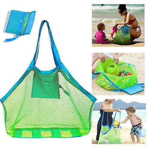 SupMLC Mesh Beach Bag Extra Large Beach Bags and Totes Tote Backpack Toys Tow...