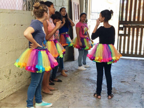 1X Kids Lovely Handmade Colorful Tutu Skirt Girls Rainbow Tulle Tutu Mini Dress