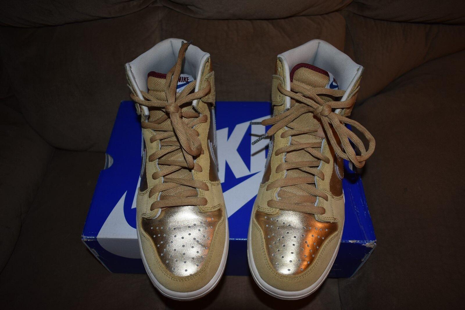 2018 Nike Dunk High Premium SB Eric Koston reducción templo Thai Oro 313171-702 reducción Koston de precio 691761