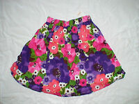 Gymboree Falling For Feathers Purple Pink Green Floral Skirt