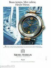 PUBLICITE ADVERTISING 116  1994  Michel Herbelin  montre Newport  quartz étanche