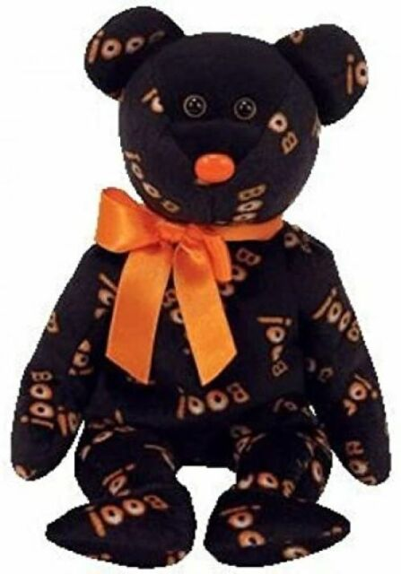 """TY Beanie Baby - YIKES the Halloween Bear (Hallmark Gold Crown Excl.) 9""""...NEW"""