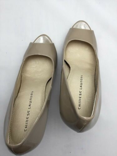 Chinese Laundry Shoes 10 M HOTNESS Patent Nude 271785783 NIB