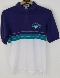 Shirts Sea Palms Multi Colored Men's Polo Xl Purple