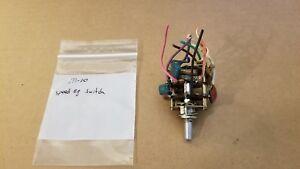 Akai M-10 tape speed equalizer switch