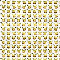 Little Pokemon On White By The Yard Cotton Print Robert Kaufman Poke'mon