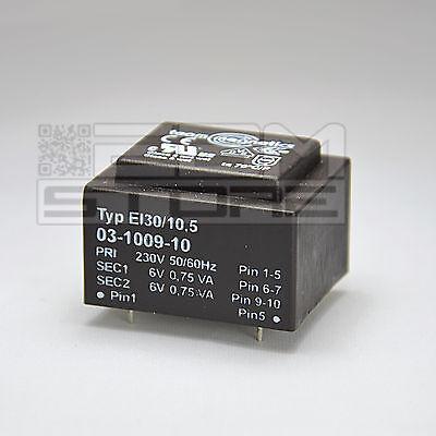 Trasformatore incapsulato 1,5VA 2x6V - ART. GH01