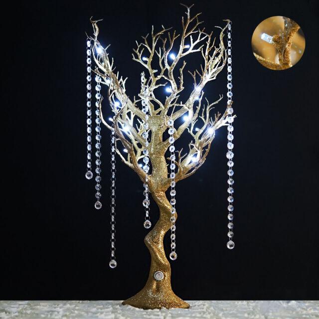 Prime 30 Tall Led Lighted Glittered Gold Manzanita Tree Wedding Party Centerpieces Beutiful Home Inspiration Xortanetmahrainfo