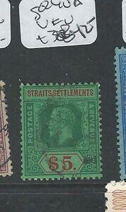 MALAYA STRAITS SETTLEMENTS (P0910B) $5.00 SG 240A KGV VFU