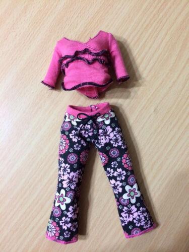 Barbie Fashion Fever Teresa Dresser Doll Floral Capris Pants Pajama Set Outfit