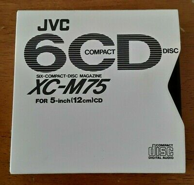 JVC XC-M75 6-CD Six Compact Disc Magazine Cartridge