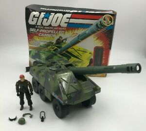 Vintage-Hasbro-GI-Joe-Slugger-w-Thunder-Self-Propelled-Cannon-Complete-w-Box