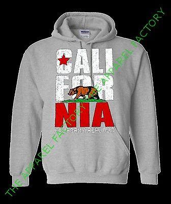 New Men/'s CALIFORNIA REPUBLIC Gray Sweatshirt cali ca swag diamond dope