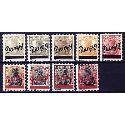 Danzig 1920 kleiner Innendienst Mi# 32-40 (*)  FÄLSCHUNG