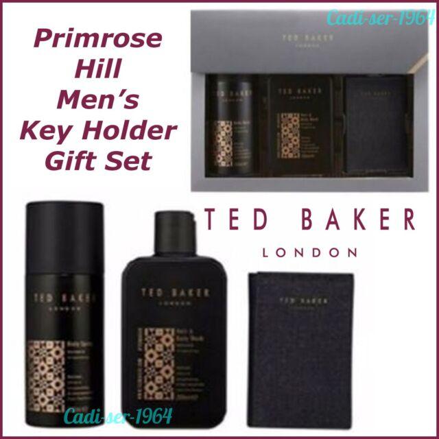 Ted Baker Men's Gift Set Body Spray, Body Wash & Key Holder Primrose Hill