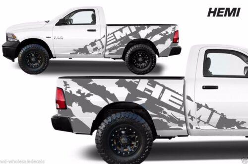 Vinyl Decal HEMI Wrap Kit for 09-2018 Dodge Ram 1500//2500//3500 6.5 BED Silver