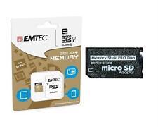 8GB Memorystick PRO DUO Speicherkarte (8GB Micro SDHC Class 10 +Pro Duo Adapter)