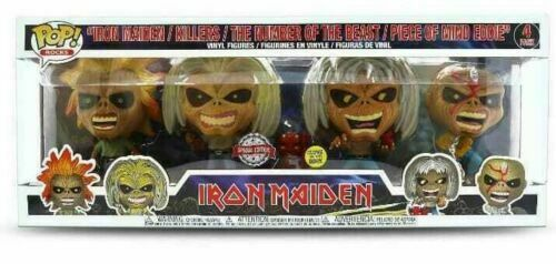 Vinyle pré-commande American Autocollant IRON MAIDEN-EDDIE Glow in the Dark 4 Pack POP