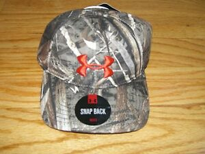 d231fbc19ee RARE  BNWT  Under Armour Mens Camo Snap Back Hat Cap Realtree Xtra ...
