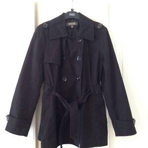 Ladies-Black-Kenneth-Cole-Mac-Jacket-Coat-Size-XL-approx-16