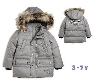 Designer-Boys-Coat-Quilted-Hooded-Winter-Warm-School-3-4-4-5-6-7-Years-RRP-42