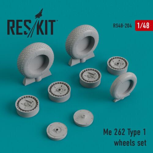 ResKit 48-0204 Me.262 Type 1 wheels set resin wheels 1//48