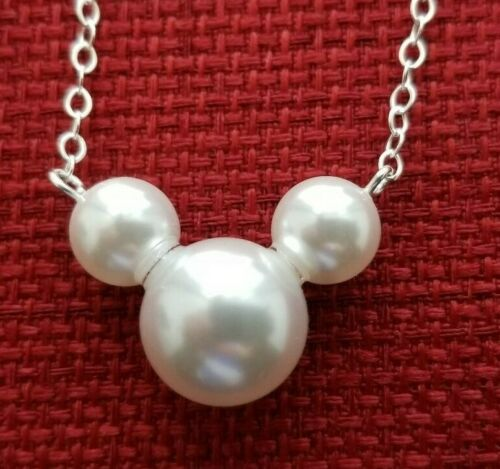 Mickey Mouse Pearl Necklace Disney Inspired