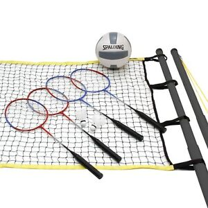 Outdoor Volleyball And Badminton Combo Set With Net