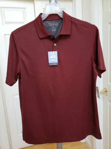 Van Heusen Mens Burgundy Polo Shirt Air Cooling Zone Classic Fit Size M NWT