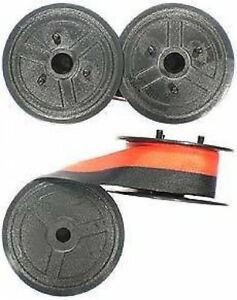 SMCO  Black Typewriter Ribbons FOR Silver Reed Twin Spools 1009fn 1066fn