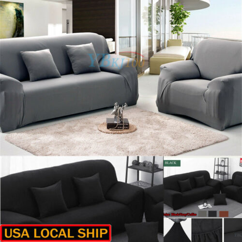 1-3 Seater Stretch Loveseat Sofa Couch Protect Cover Slipcover Washable Elastic