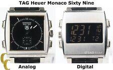 Tag Heuer Monaco Sixty Nine Automatic Reversible Watch Retail $6,900 CW9110-0