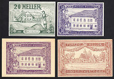 Goldwörth (OÖ) -Gemeinde- 20 Heller, 2 x 30 Heller und 50 Heller (JP 248 a,b)