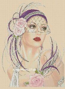 Acheter Pas Cher Art Deco Lady Cross Stitch Chart Art Deco Lady 3 C Flowerpower 37-uk-uk Fr-fr Afficher Le Titre D'origine Apparence EsthéTique
