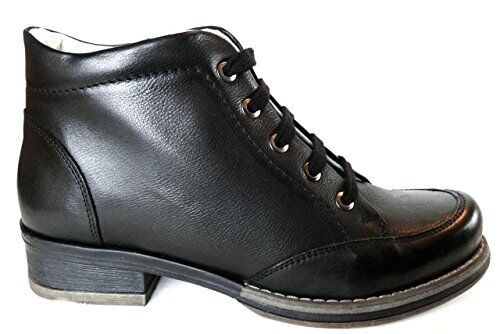 OGS Wide shoes Alba Black Leather Boots 3E wide