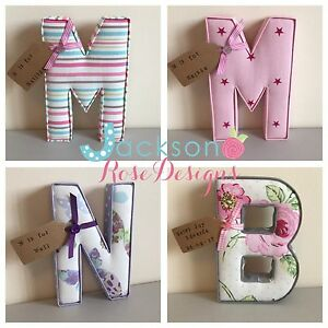 Christening-Gift-Letters-Padded-Handmade-Nursery-name-personalised-girl-boy