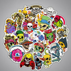 100pcs/lot Horror Stickers Collection Decal PVC Sunproof For