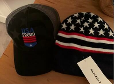 USA Hat Brilliantly Embroidered w Eagle and flowing flag Retails @ 27.95