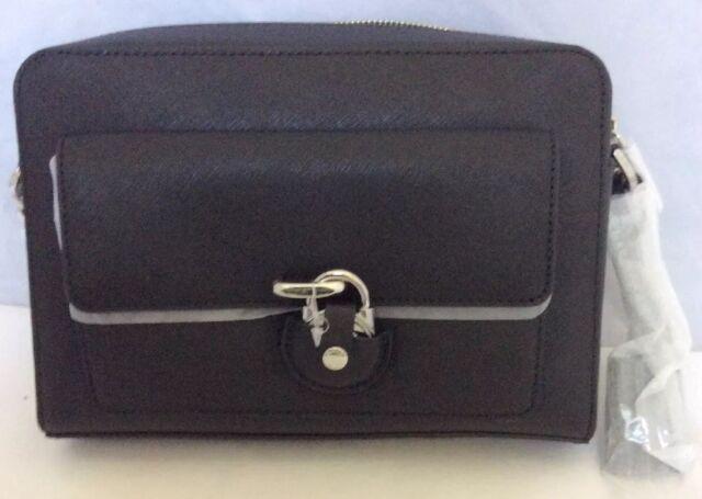Leather Black Saffiano Michael Kors Bag Emma Crossbody Messenger Medium Ifm7vgYby6