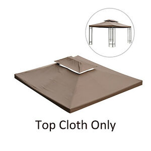 Gazebo Replacement Top Canopy Sunshade Patio Garden 13'x10' Cover Brown