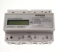 10-100A DIN Rail 120/208VAC 60hz 3 Phase Watt-hour KWH Energy Meter