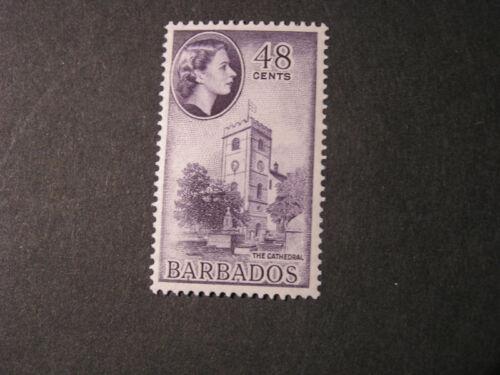 BARBADOS, SCOTT # 244, 48c. VALUE 1956 QE2 ISSUE MVLH