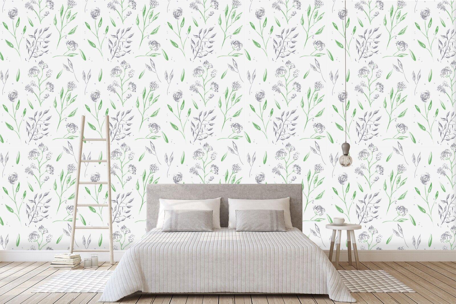 3D Pretty Flowers 3 Wallpaper Mural Print Wall Indoor Wallpaper Murals UK Summer