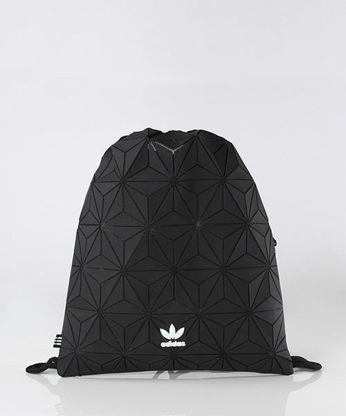 ADIDAS ORIGINALS 3D GYMSACK BAG BLACK DH0209 Issey Miyaki Sack Trefoil  backpack